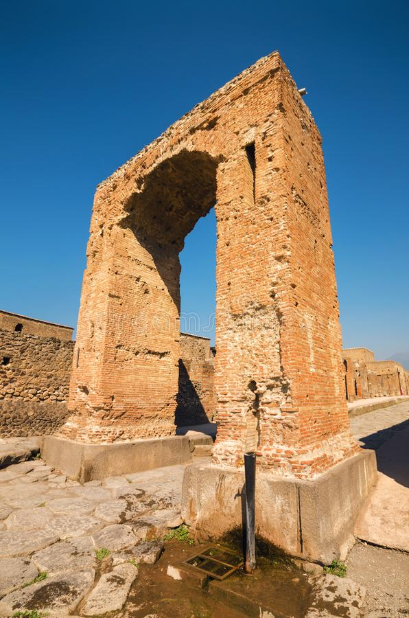 Ruins of the ancient roman city of Pompeii. royalty free stock photo