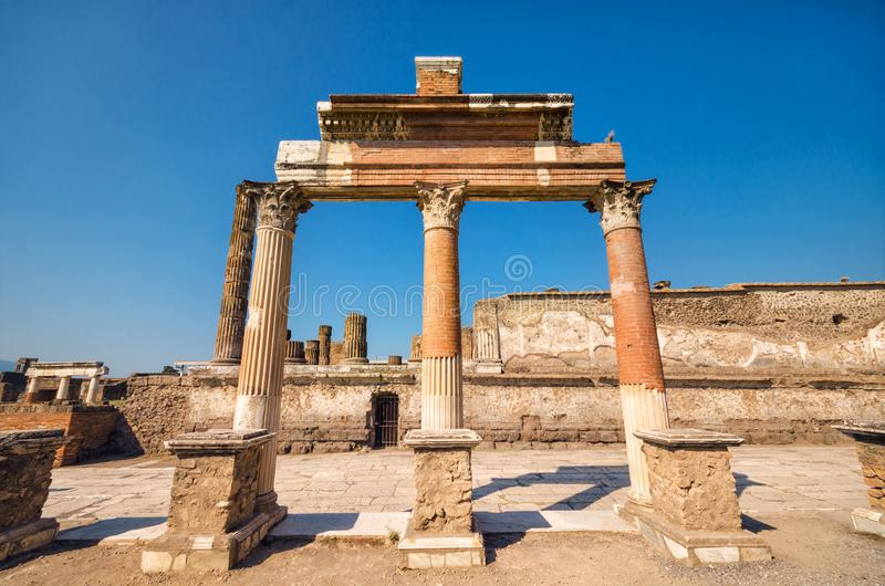 Ruins of the ancient roman city of Pompeii. stock photography