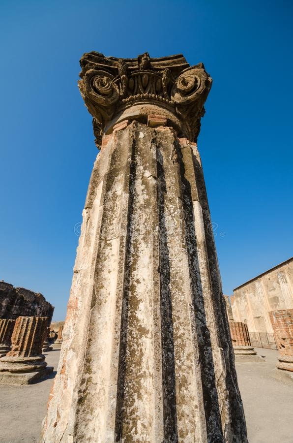 Ruins of the ancient roman city of Pompeii. royalty free stock images