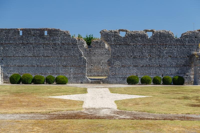 Ruins of the ancient Roman city Tashiaka, near Thesee commune. France royalty free stock image