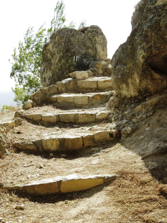 Ruins of ancient stairs royalty free stock images