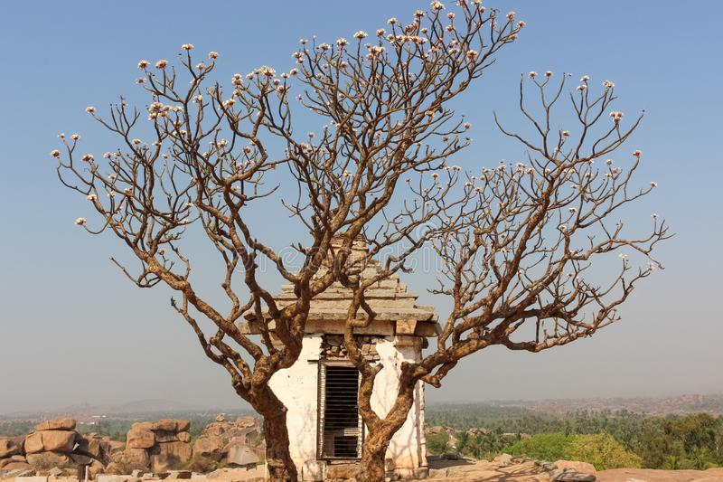 Ruins of ancient structure in Hampi royalty free stock image