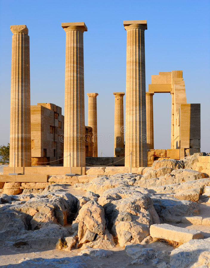 Ruins of ancient temple. Greece royalty free stock photos