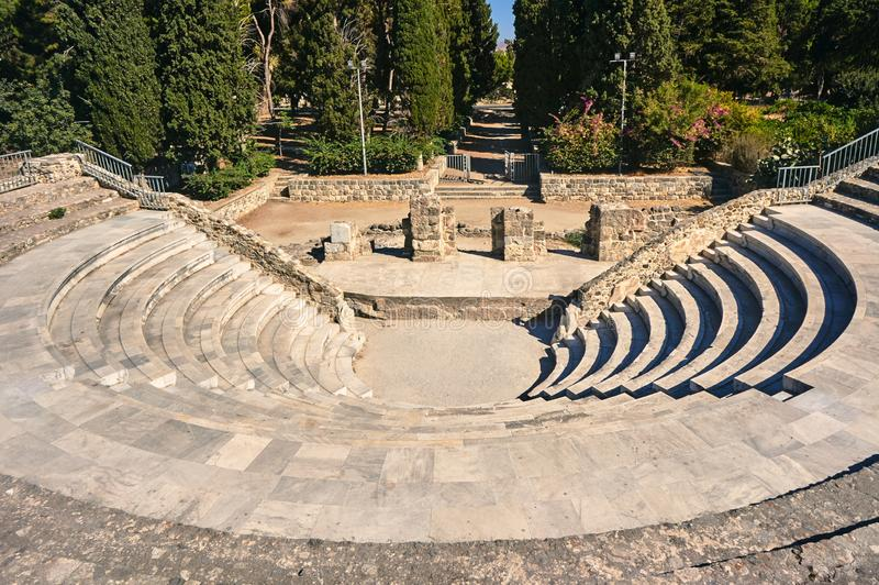 The ruins of the ancient theater royalty free stock images
