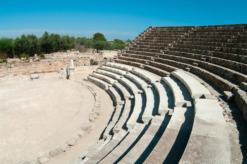 Download Ruins Of Ancient Theater In Salamis Stock Image - Image: 18305049
