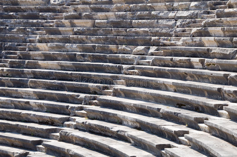 Ruins of ancient theater. Seats only. Nobody