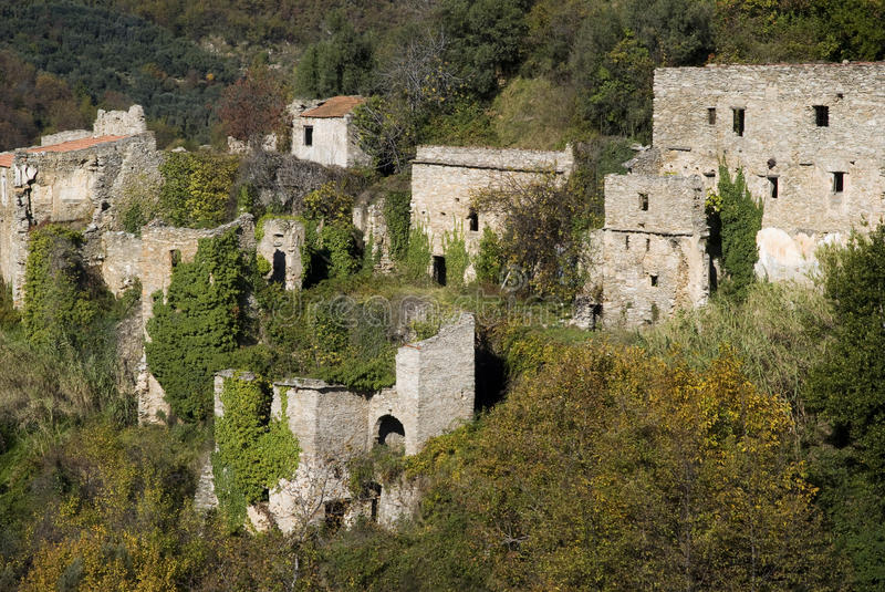 Ruins Of The Ancient Village Stock Images