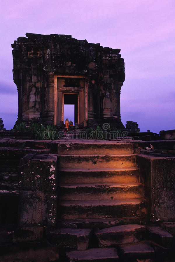 Ruins- Angkor Wat, Cambodia royalty free stock photo
