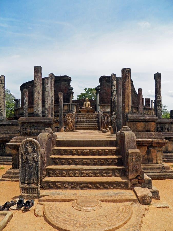 Ruins at Anuradhapura, Sri Lanka. Buddha Ruins at the Sacred City of Anuradhapura, Sri Lanka stock photo