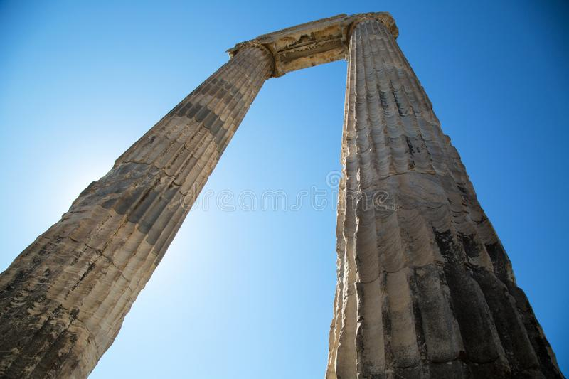Ruins of Apollo Temple in Turkey royalty free stock photography