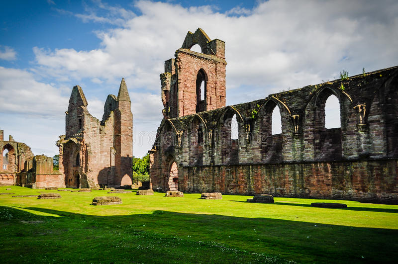 Ruins of Arbroath Abbey stock photography