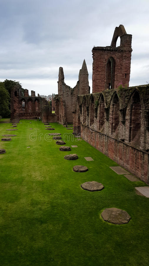 Ruins of Arbroath Abbey stock image