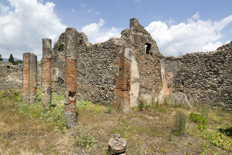 Ruins, Archeological site of Pompeii, Italy stock images