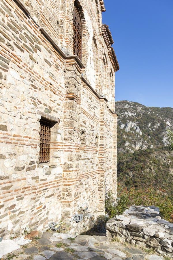 Ruins of Asen Fortress near town of Asenovgrad, Bulgaria. ASENOVGRAD, BULGARIA - OCTOBER 16, 2019: Autumn view of ruins of Asen Fortress, Asenovgrad, Plovdiv stock images