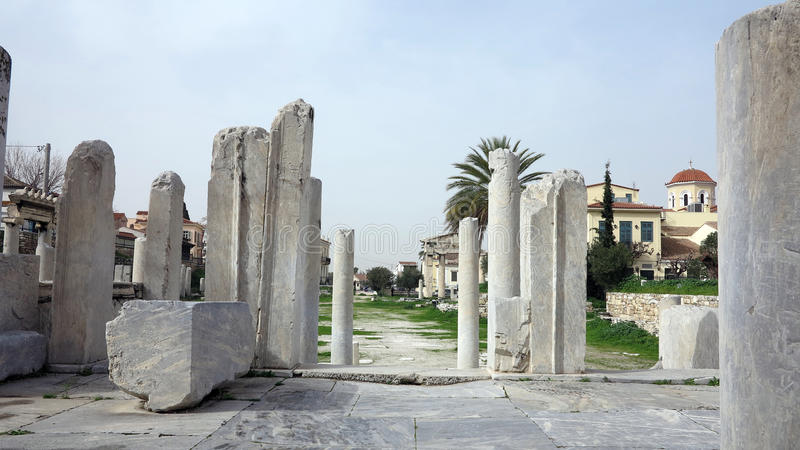 Download Ruins in athens greece stock image. Image of panoramic - 30716223