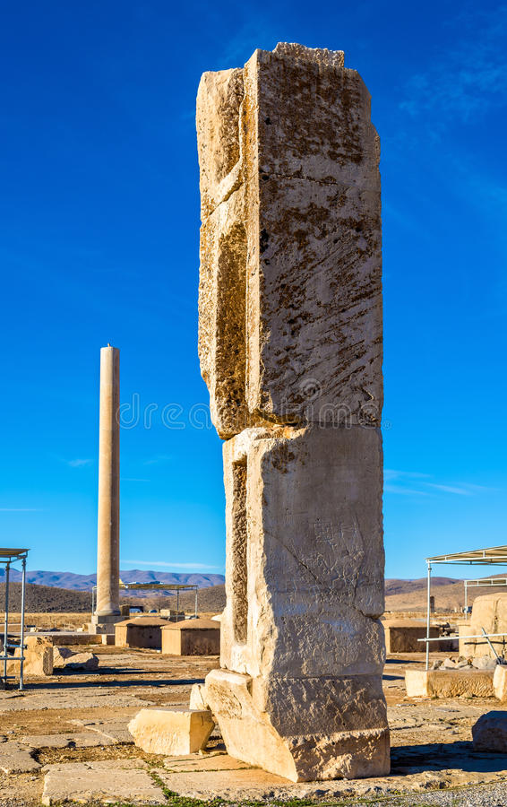 Ruins at Audience Palace in Pasargadae, Iran. Ruins at Audience Palace in Pasargadae - Iran stock images