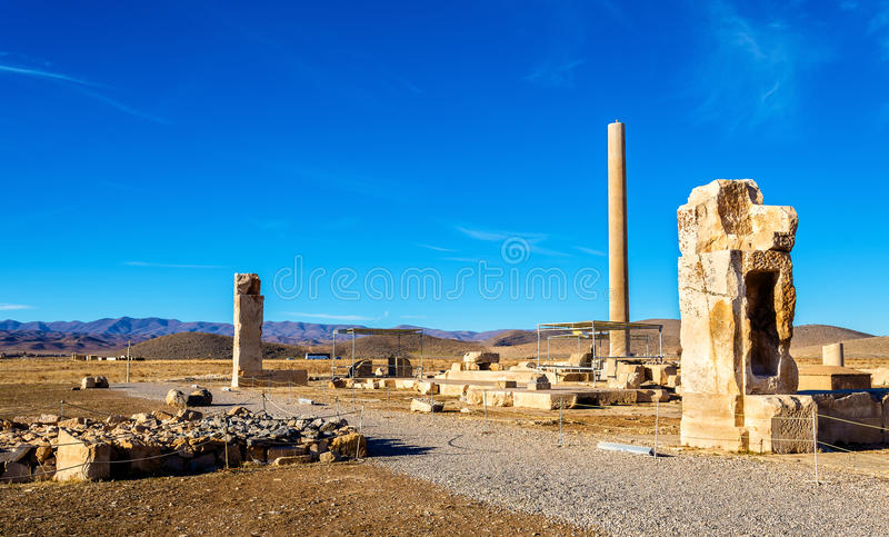 Ruins at Audience Palace in Pasargadae, Iran. Ruins at Audience Palace in Pasargadae - Iran royalty free stock images