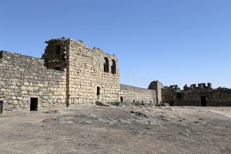 Ruins of Azraq Castle, central-eastern Jordan, 100 km east of Amman stock image