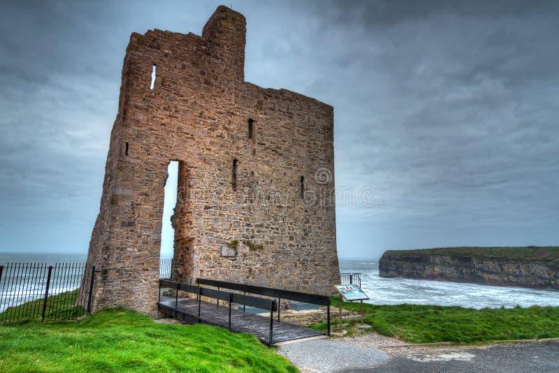 Ruins of Ballybunion castle stock photography