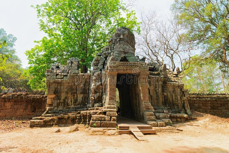 Ruins of Banteay Kdei temple complex in Siem Reap Cambodia. Ruins of Banteay Kdei temple complex in Siem Reap, in Cambodia royalty free stock photos