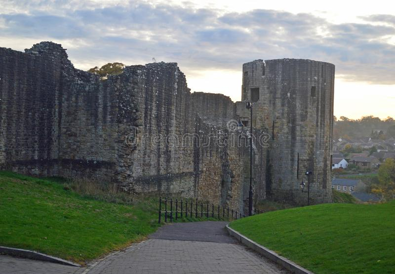 The ruins of Barnard Castle royalty free stock photography