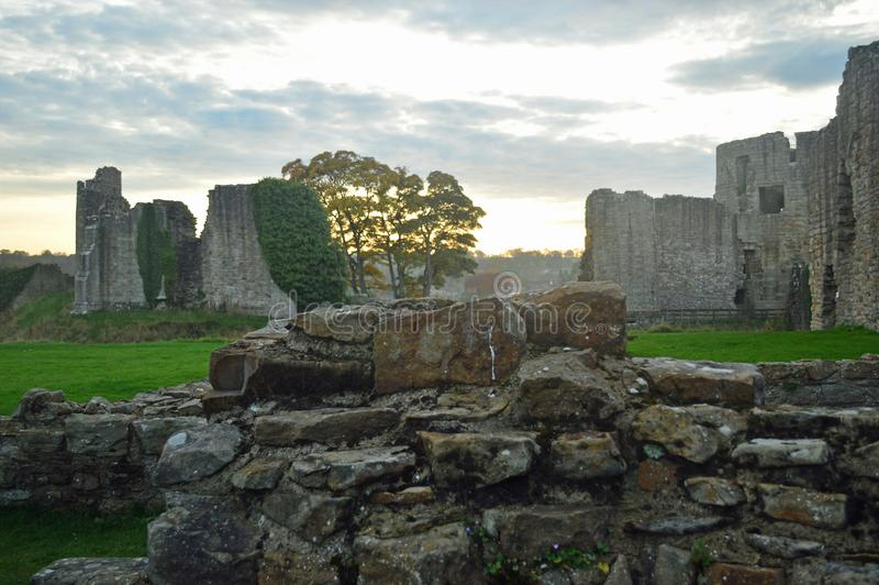 The ruins of Barnard Castle stock photography