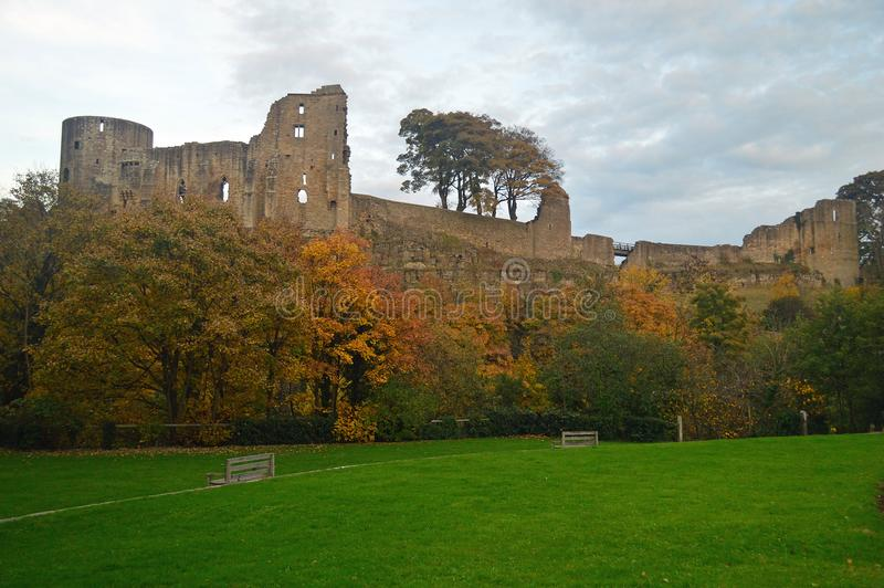 The ruins of Barnard Castle stock image