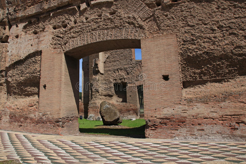The ruins of the Baths of Caracalla in Rome. Italy stock images