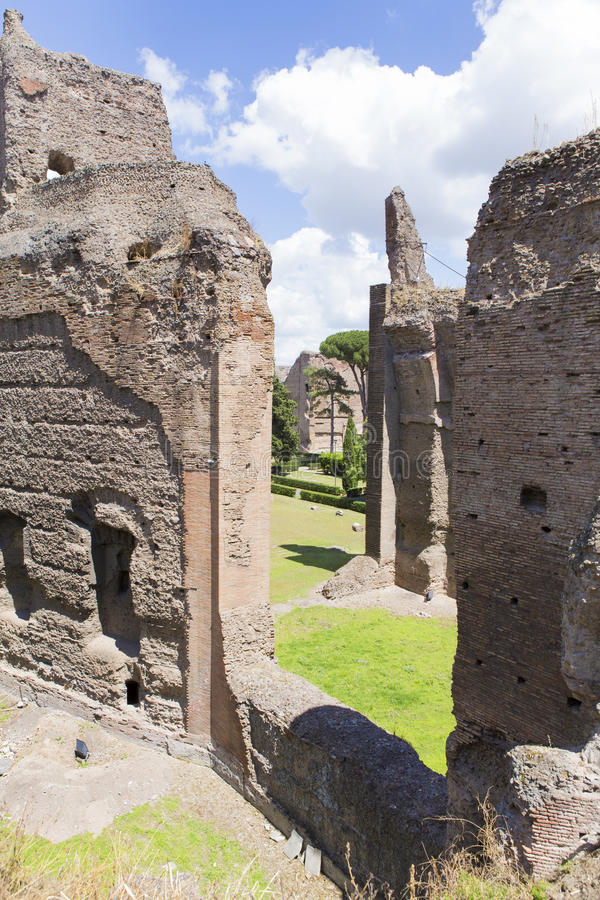 Baths of Caracalla. Ruins from Baths of Caracalla in Rome, Italy royalty free stock images