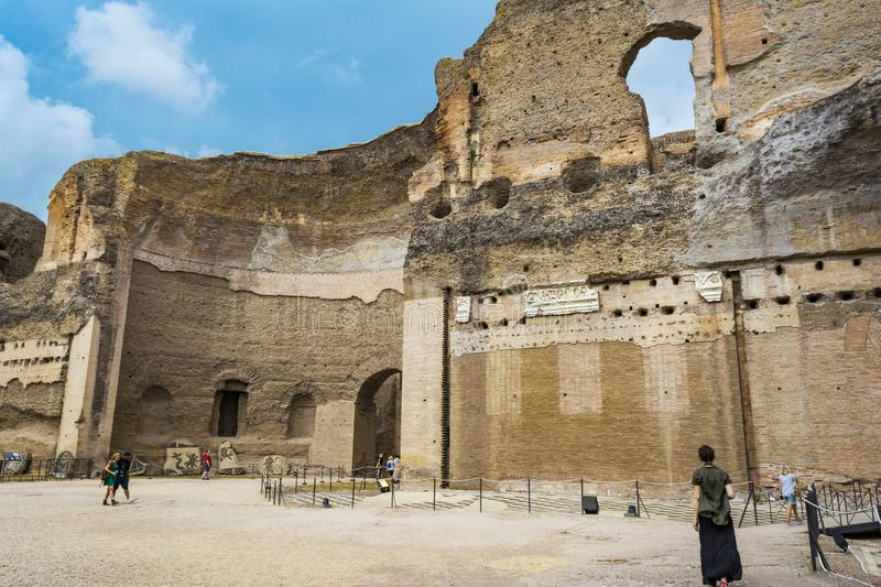 Ruins of the Baths of Caracalla - Terme di Caracalla royalty free stock image