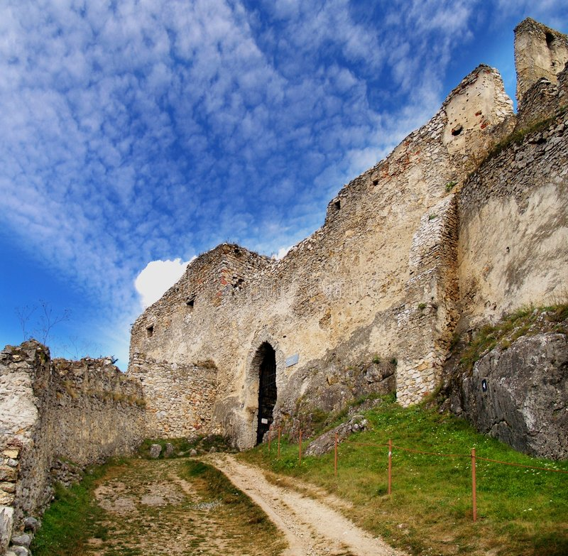 Ruins of Beckov castle royalty free stock photography