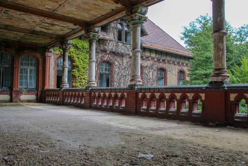 Ruins of Beelitz-Heilstätten Lost place Berlin Brandenburg royalty free stock photo
