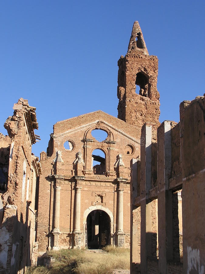 Ruins of Belchite royalty free stock image