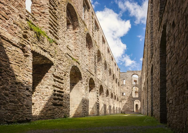 The ruins of Borgholm. Ruins of a fortified building in Borgholm, Sweden royalty free stock photography