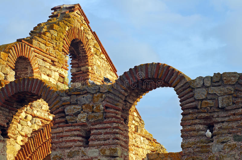 Old ruins of a Greek Church royalty free stock photography