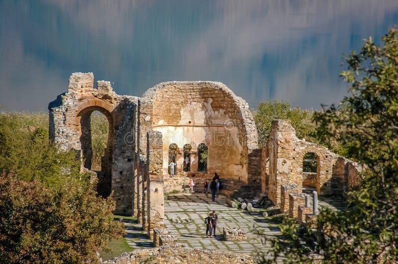 Ruins of Byzantine church royalty free stock photos