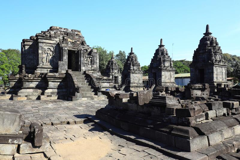 Ruins of Candi Jago Klaten Indonesia. Partially restored ruins of Candi Jago near Klaten Central Java Indonesia royalty free stock photo