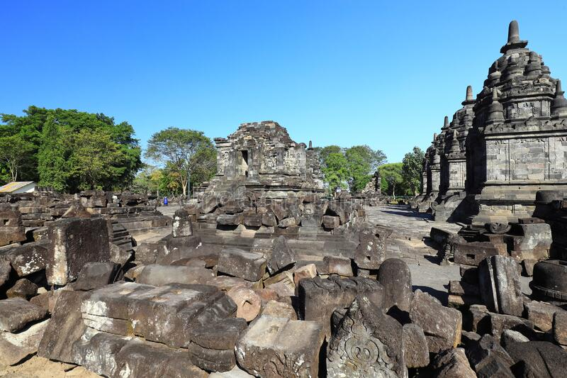 Ruins of Candi Jago Klaten Indonesia. Partially restored ruins of Candi Jago near Klaten Central Java Indonesia stock image