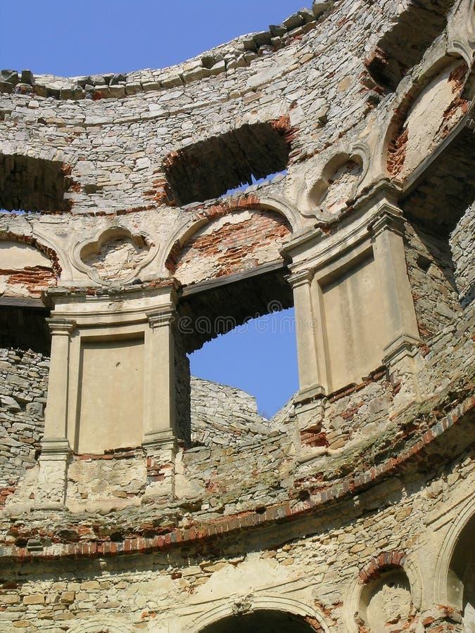 Ruins of castle stock photos