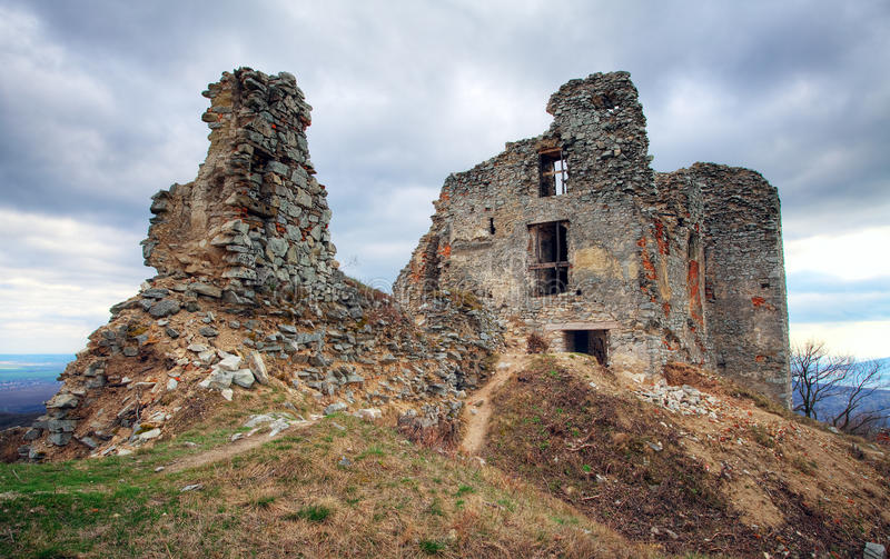 Ruins of Castle Gymes Slovakia royalty free stock images