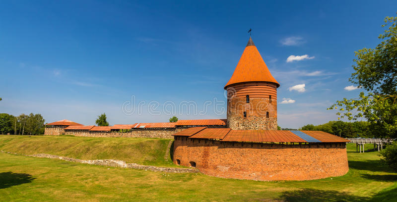 Ruins of the Castle in Kaunas. Lithuania royalty free stock image