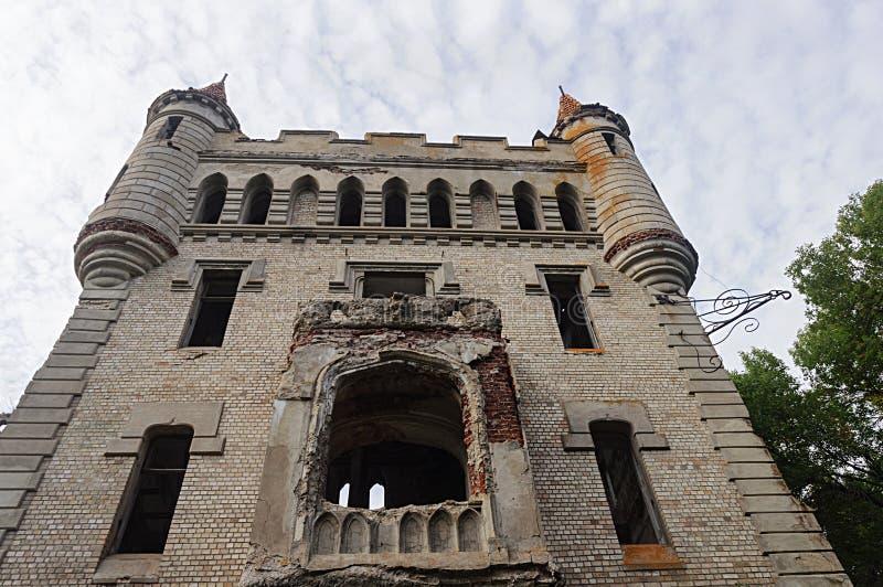 Ruins of castle Khrapovitsky in Muromtsevo royalty free stock photography