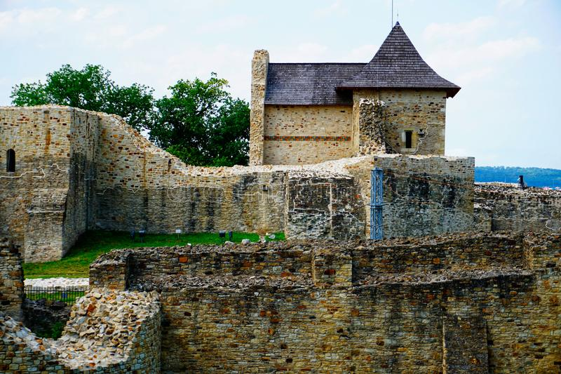 Old ruins of a castle royalty free stock photography
