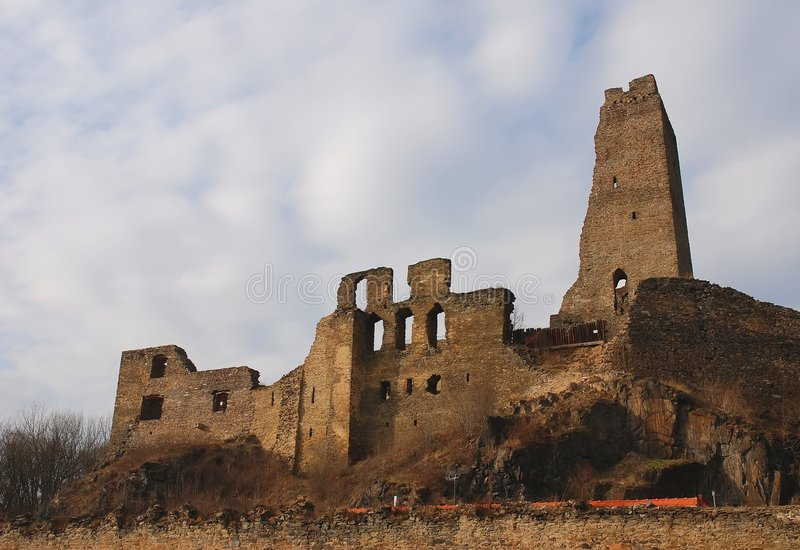 Ruins of the castle Okor royalty free stock photos