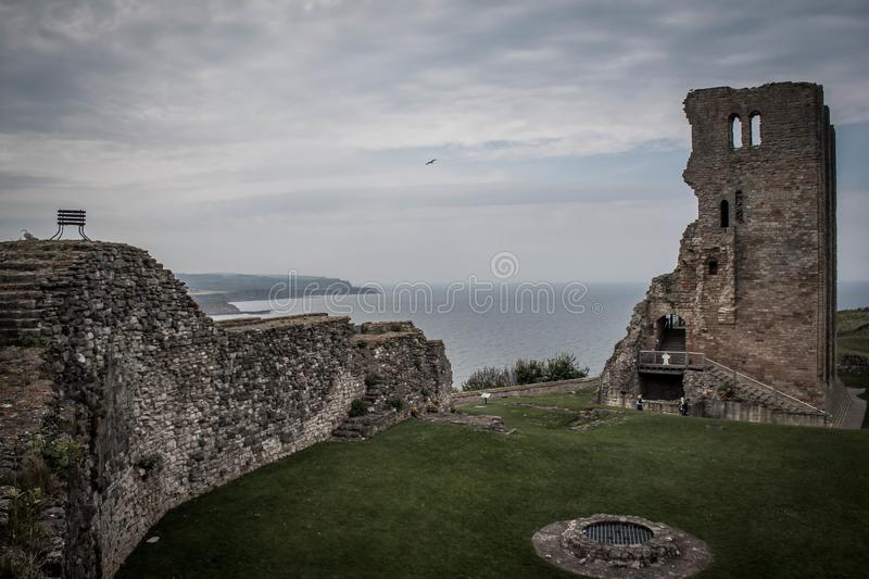 The ruins of a castle in Scarborough. royalty free stock images