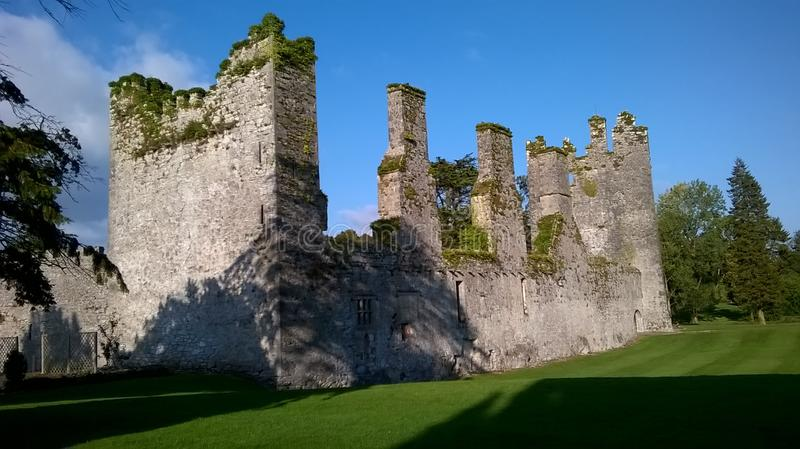 Ruins in Castlemartyr Ireland stock images
