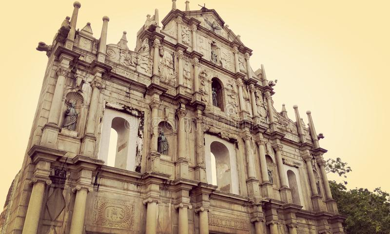 A The Ruins of the Cathedral of Saint Paul stock image