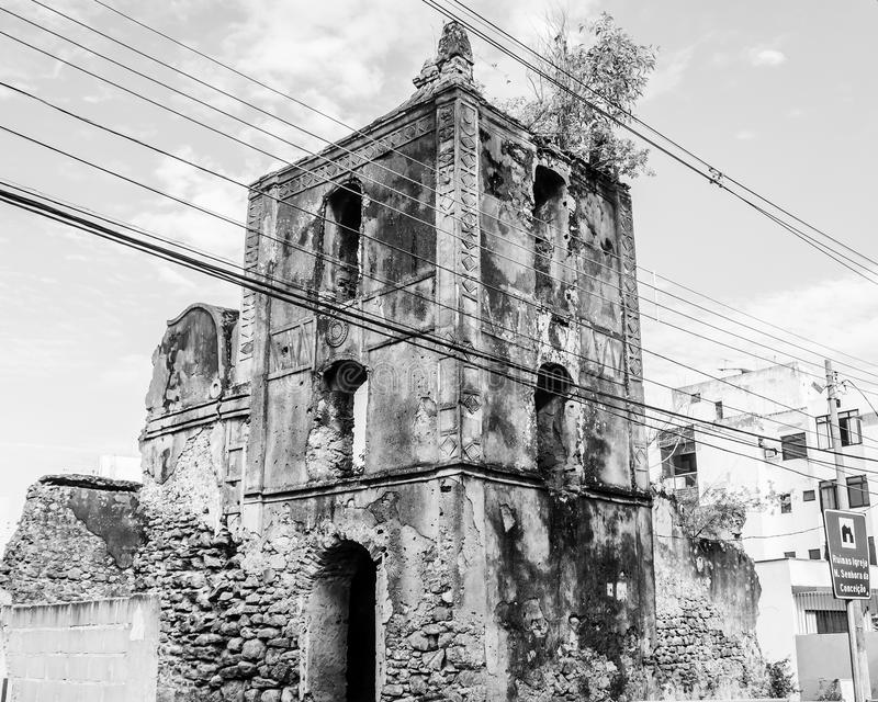 Ruins of the Church of Our Lady of Conception, Guarapari, State of Espírito Santo, Brazil royalty free stock photography
