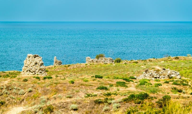 Ruins of Chersonesus, an ancient greek colony. Sevastopol, Crimea stock photos