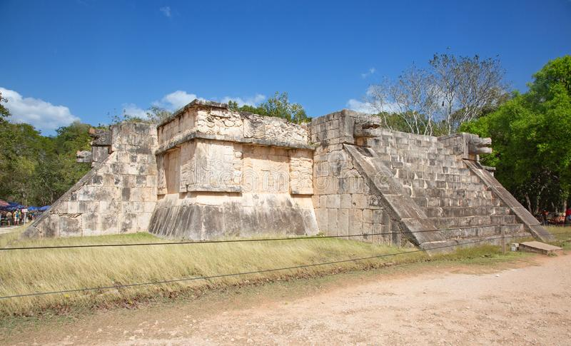 Ruins of the Chichen-Itza royalty free stock image